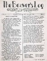 Camp Beaver's Newpaper, The Beaver's Log. This issue is from July 1934