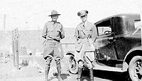 Camp officers, Captain Beall and Lt Robinson in 1935.
