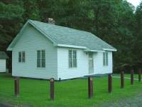 This building was constructed by the CCC at Camp Parsons and is now used as a bunkhouse for graduate students and other