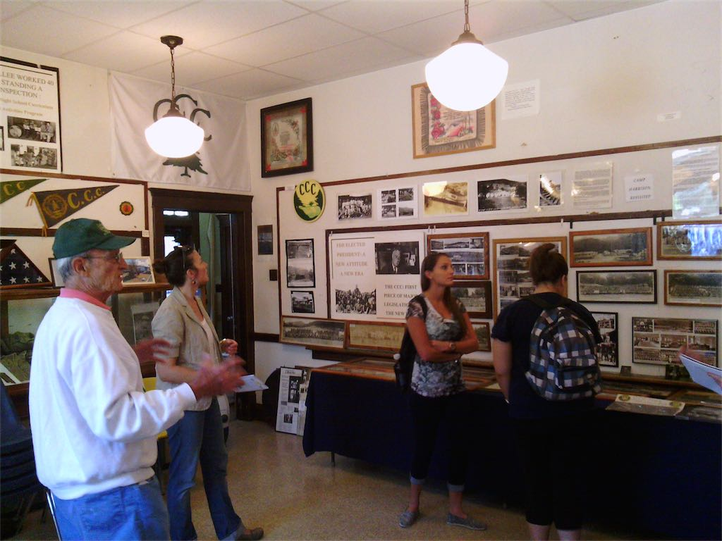 Dr. Robert Anderson leads a tour of the museum complex for WVU Grad Students September 30, 2014.